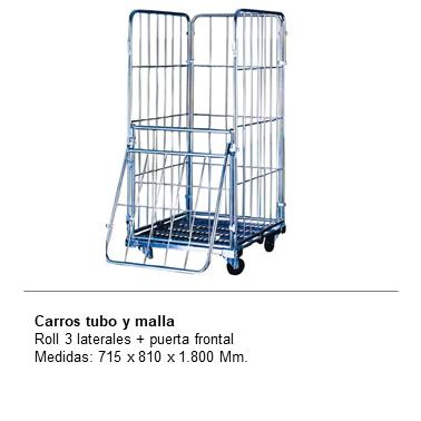 ENGMETAL CARROS TUBO Y MALLA Roll 3 laterales + puerta frontal