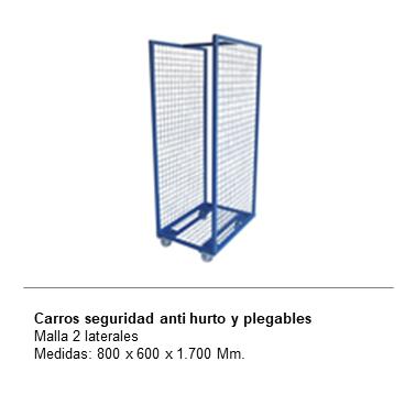 ENGMETAL CARROS SEGURIDAD ANTI HURTO Y PLEGABLES Malla 2 laterales
