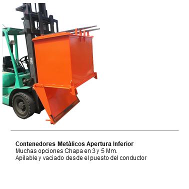 ENGMETAL Contendores metailcos apertura inferior