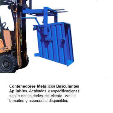 ENGMETAL Contenedores Metalicos Basculantes Apilables