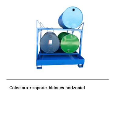 ENGMETAL Colectora + soporte Bidones horizontal
