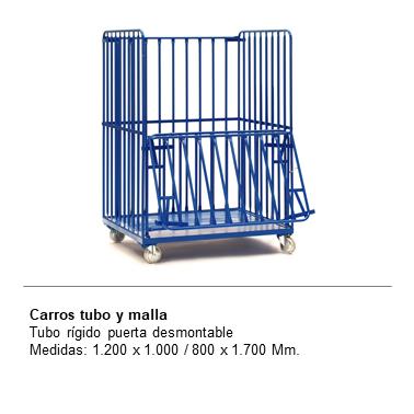 ENGMETAL CARROS TUBO Y MALLA Tubo Rigido Puerta desmontable